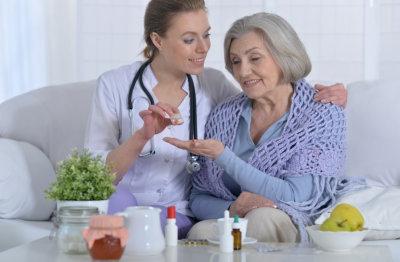nurse patient talking